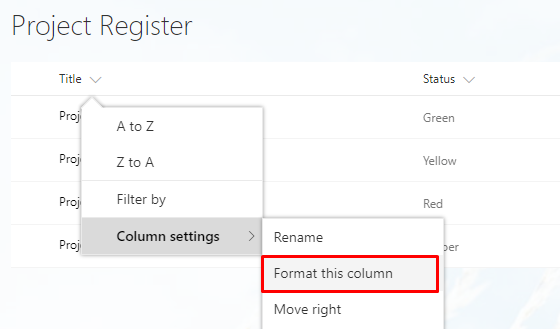 Customise SharePoint Online Columns Using JSON / Column