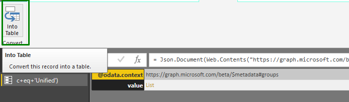 Get Office 365 Groups Inventory Using PowerBi and Graph API