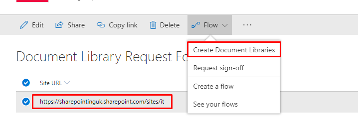 Create Multiple Document Libraries Using SharePoint HTTP Request